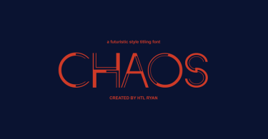 Chaos [1 Font] | The Fonts Master