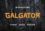 Galgator [1 Font] | The Fonts Master