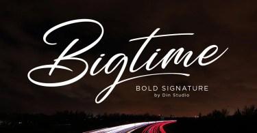Bigtime [1 Font] | The Fonts Master