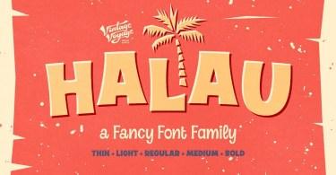 Halau [5 Fonts] | The Fonts Master