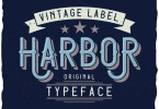 Harbor Vintage Label Typeface [6 Fonts] | The Fonts Master