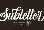 Subletter [1 Font] | The Fonts Master