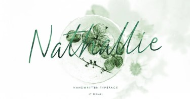 Nathallie [1 Font] | The Fonts Master