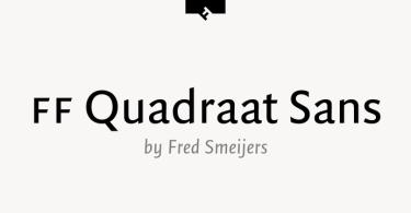 Ff Quadraat Sans Pro Super Family [24 Fonts]   The Fonts Master