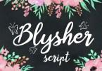Blysher [1 Font] | The Fonts Master