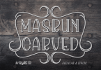 Masrun Carved [2 Fonts] | The Fonts Master