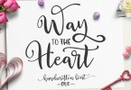 Way To The Heart [2 Fonts] | The Fonts Master