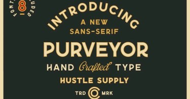 Purveyor [8 Fonts] | The Fonts Master
