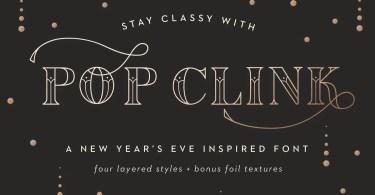 Pop Clink [4 Fonts] | The Fonts Master