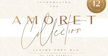 The Amoret Collection [3 Fonts] | The Fonts Master