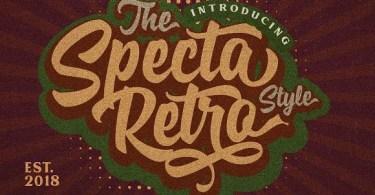 Specta Retro Script [3 Fonts] | The Fonts Master
