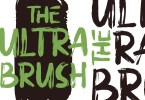 Ultra Brush [2 Fonts] | The Fonts Master