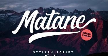 Matane Script + Swash [2 Fonts] | The Fonts Master