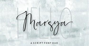 Marsya Script [2 Fonts]