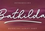 Bathilda [1 Font] | The Fonts Master