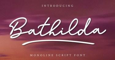 Bathilda [1 Font]   The Fonts Master