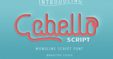 Cabello Script [1 Font] | The Fonts Master