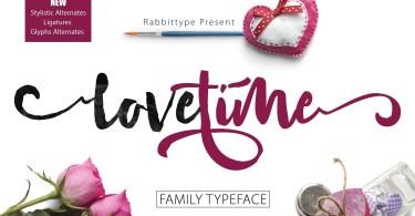 Lovetime [2 Fonts] | The Fonts Master