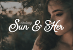 Sun &Amp; Her [1 Font] | The Fonts Master