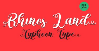Rhinos Land [1 Font]   The Fonts Master