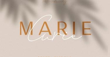 Marie Curie Regular & Script [2 Fonts]