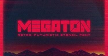 Megaton [1 Font] | The Fonts Master