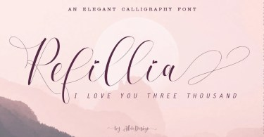 Refillia Calligraphy [9 Fonts] | The Fonts Master