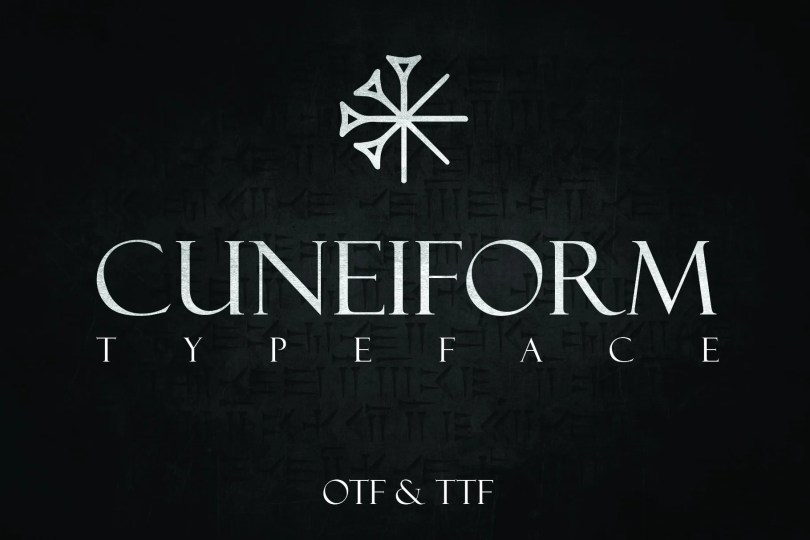 Cuneiform [1 Font] | The Fonts Master