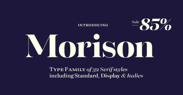 Morison Super Family [32 Fonts]