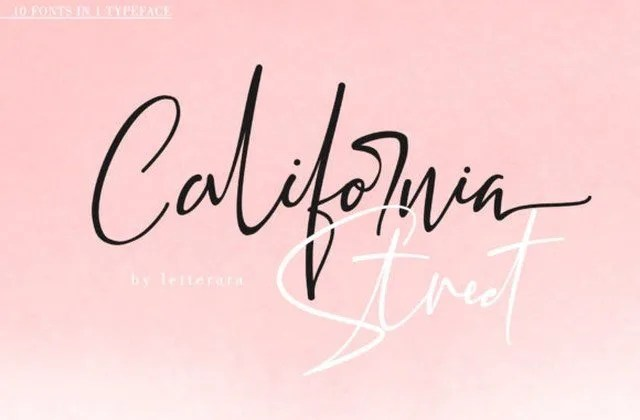 California Street [10 Fonts] | The Fonts Master
