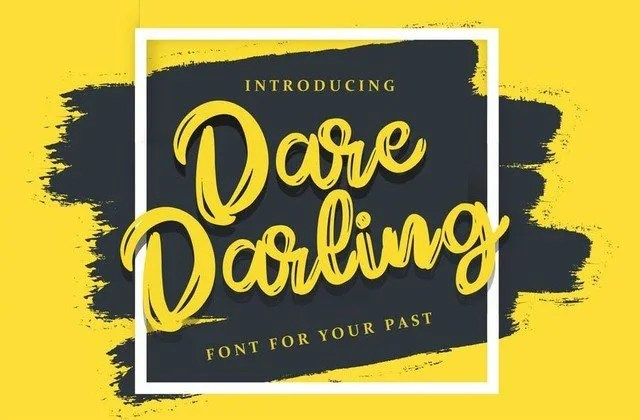 Dare Darling [1 Font]   The Fonts Master