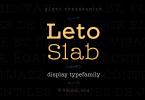 Leto Slab Super Family [21 Fonts] | The Fonts Master