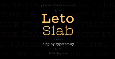 Leto Slab Super Family [21 Fonts] | The Fonts Master