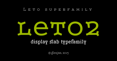 Leto Two Super Family [6 Fonts] | The Fonts Master