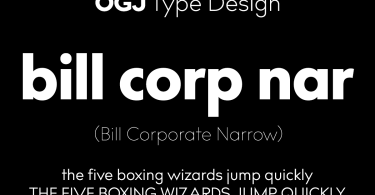 Bill Corporate Narrow Super Family [16 Fonts]   The Fonts Master