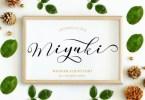 Miyuki [1 Font] | The Fonts Master