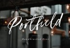 Portfield [2 Fonts] | The Fonts Master