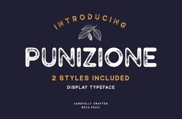Punizione [2 Fonts]   The Fonts Master