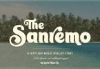 Sanremo [1 Font] | The Fonts Master