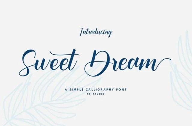 Sweet Dream [1 Font] | The Fonts Master