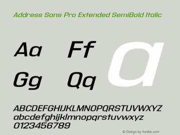 Address Sans Pro Extended Super Family [16 Fonts] | The Fonts Master