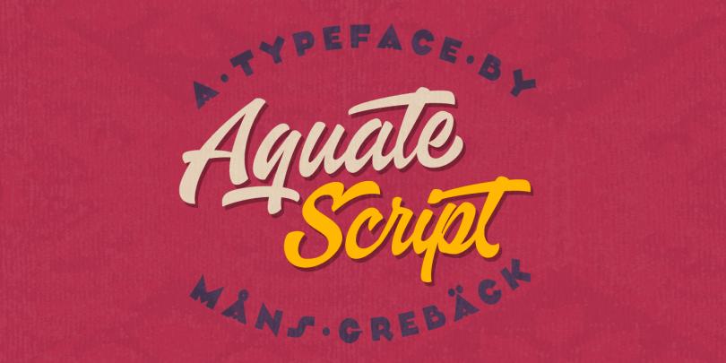 Aquate Script [1 Font] | The Fonts Master