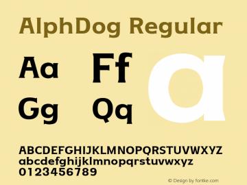 Alphdog [3 Fonts] | The Fonts Master
