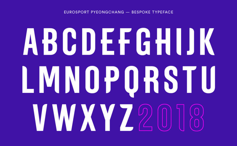 A2 Eurosport Pyeongchang 2018 [1 Font] | The Fonts Master