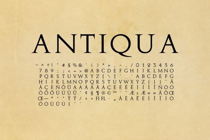 Antiqua - Antique Roman [1 Font]   The Fonts Master