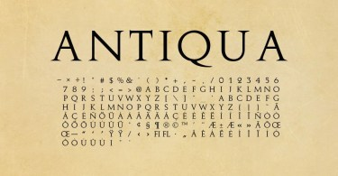 Antiqua - Antique Roman [1 Font] | The Fonts Master