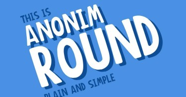 Anonim Round [1 Font] | The Fonts Master