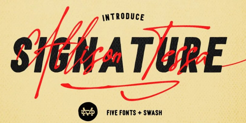 Allison Tessa [6 Fonts]   The Fonts Master