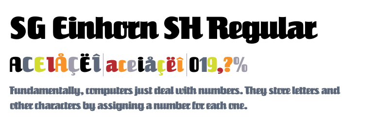 Sg Reinhorn Sh Regular [1 Font] | The Fonts Master