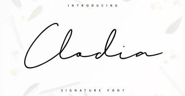 Clodia Signature [1 Font] | The Fonts Master